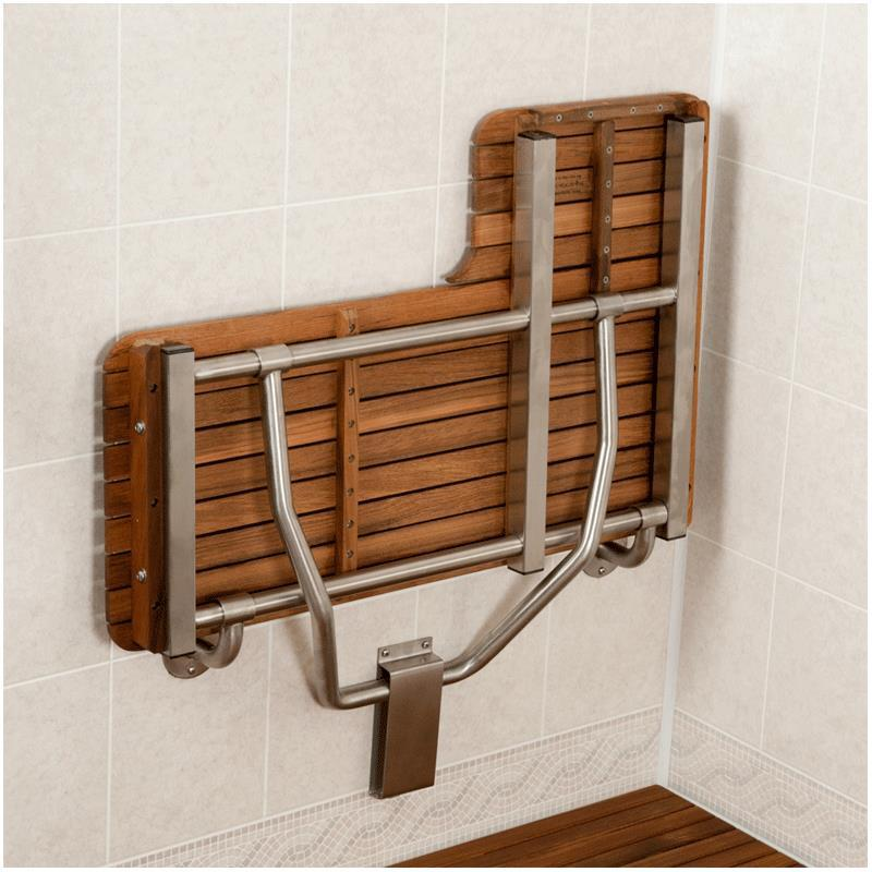 Teakworks4u ADA L-Shaped Transfer Seat | Shower Chairs