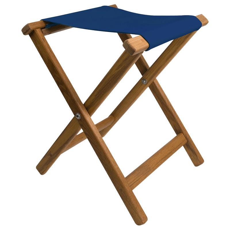 Teakworks4u Folding Teak Camp Stool With Canvas Seat | Sports and Outdoor