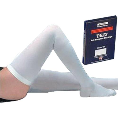 covidien kendall closed toe thigh length ted anti embolism stockings