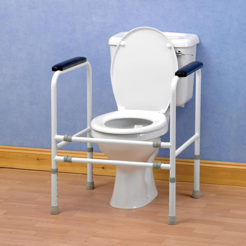 Homecraft Adjustable Bariatric Toilet Surround Frame | Grab Bars and ...