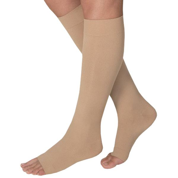b4860c6dd BSN Jobst Opaque Open Toe Knee High 20-30 mmHg Firm Compression Stockings