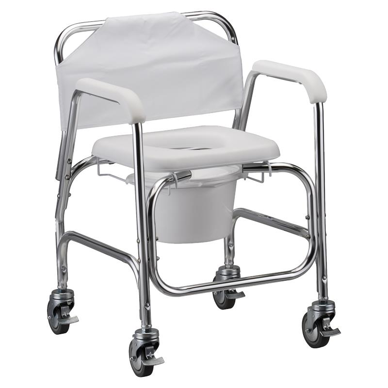 Nova Medical Shower Chair And Commode With Wheels | Shower Chairs