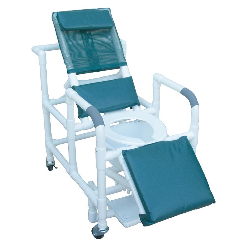 MJM International Reclining Shower Chair with Sliding Footrest ...