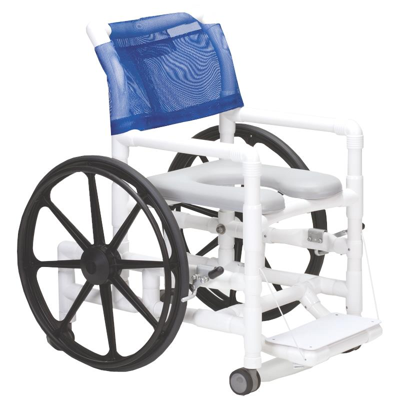 Columbia PVC Self-Propelled Shower and Commode Chair | Shower Chairs
