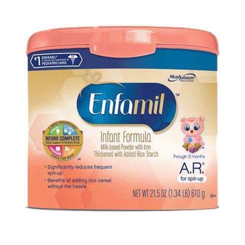 Enfamil a r infant formula for spit up pediatric nutrition