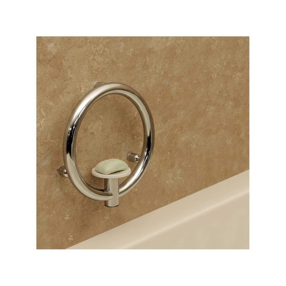 HealthCraft Invisia 2-in-1 Soap Dish With Integrated Circular Grab Bar