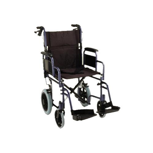 Nova Medical 19 Inches Lightweight Transport Chair With Detachable Desk Arm  And Hand Brakes