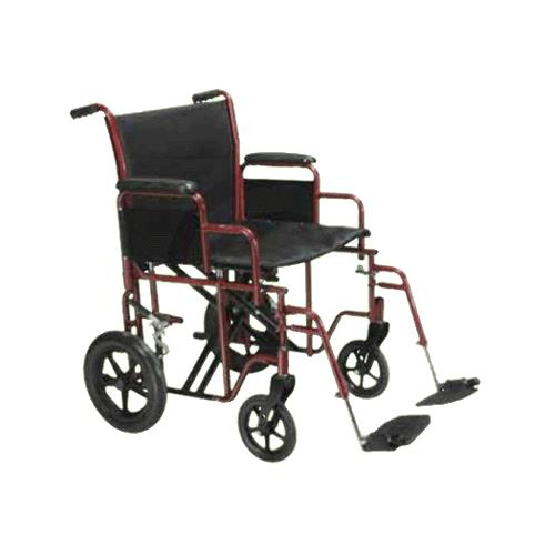 Drive Bariatric Steel Transport Chair With Swing-Away Footrests