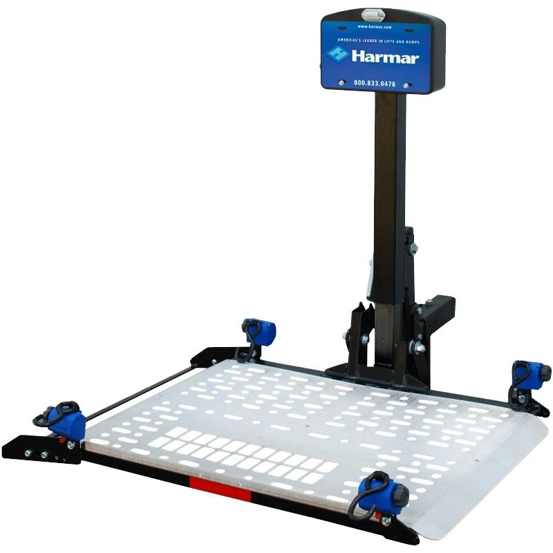 Harmar al300 scooter and power chair fusion lift outside for Motorized wheelchair lifts for cars