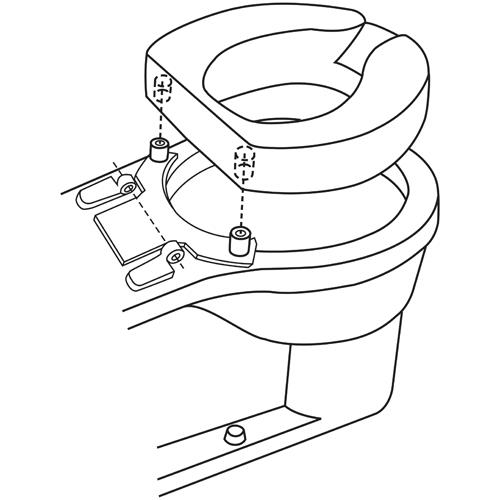 Maddak Four Inches Tall Ette Elevated Toilet Seat Raised