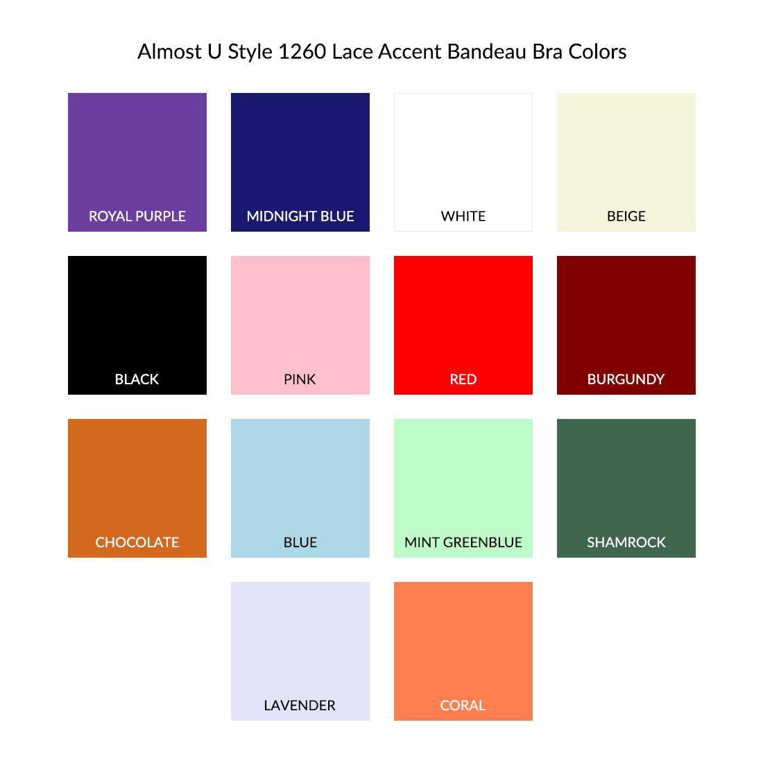 21a5374af5d6 Almost U Style 1260 Lace Accent Bandeau Bra