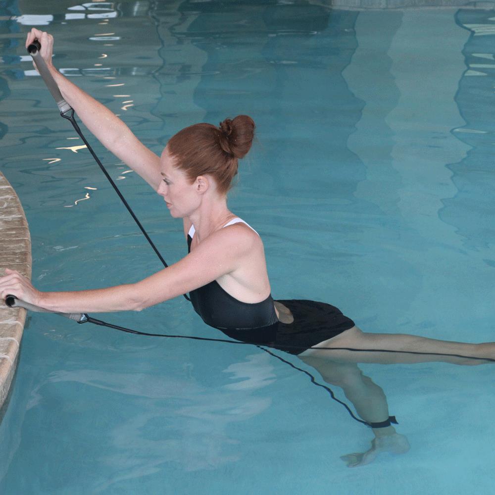 Strechcordz pool aqua band aquatic rehab therapy Psoriasis and swimming pool chemicals