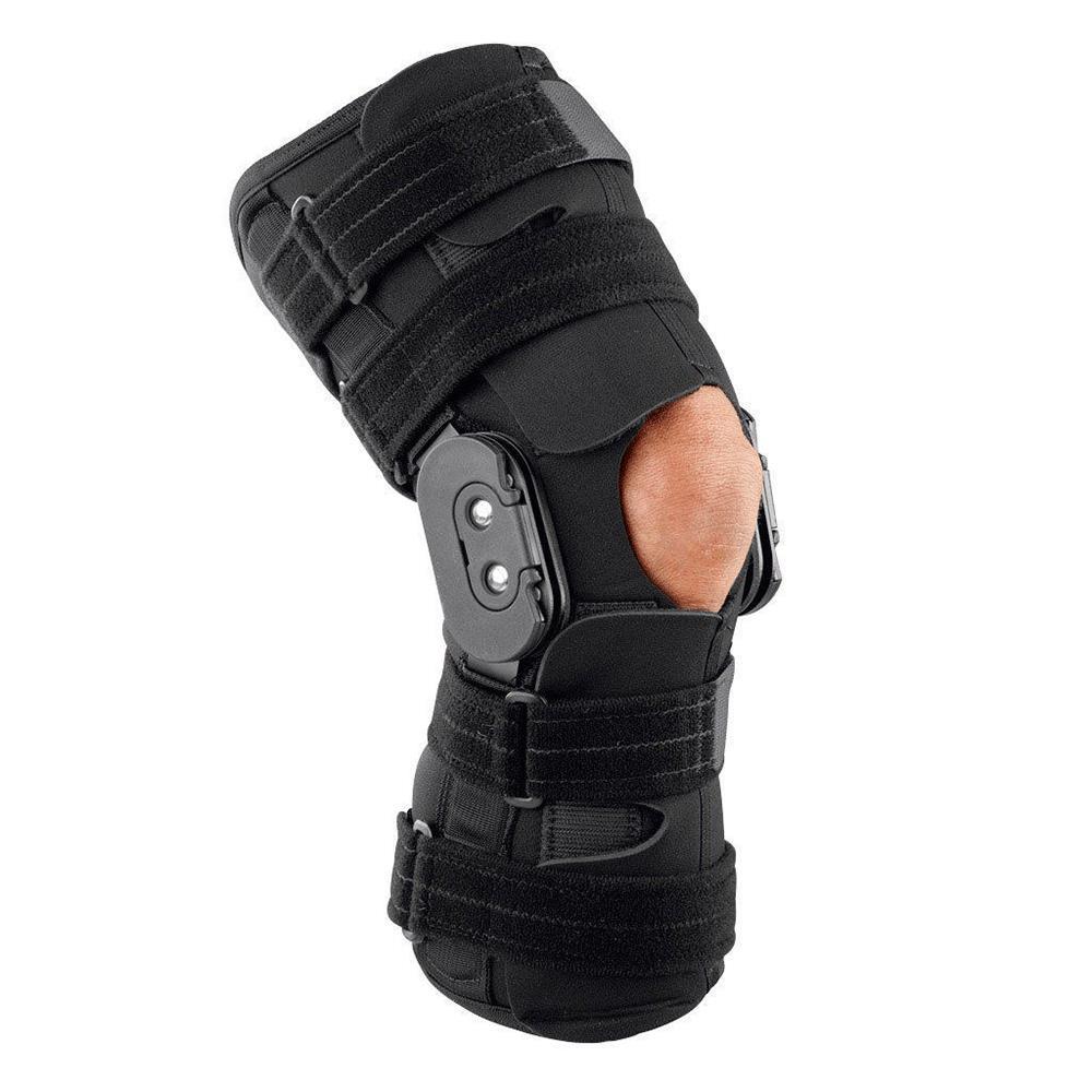1e07d13623 Breg RoadRunner Open Back Wraparound Knee Brace | Hinged Knee Braces