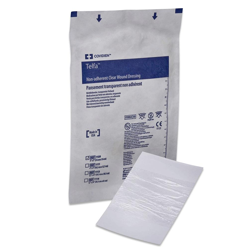 medtronic covidien telfa sterile clear wound dressing non adherent dressing. Black Bedroom Furniture Sets. Home Design Ideas