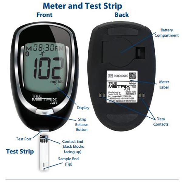 Trividia True Metrix Air Self Monitoring Blood Glucose Meter