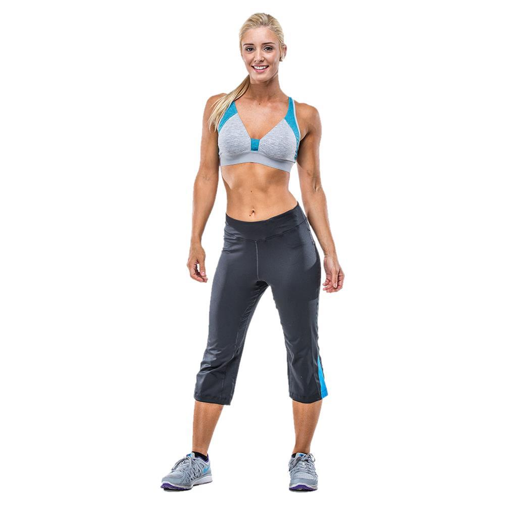 These cropped capri yoga pants feature a solid design, a high waist design, an elastic waist, and a slightly flared bottom. more More like this Find other Women's Pants.