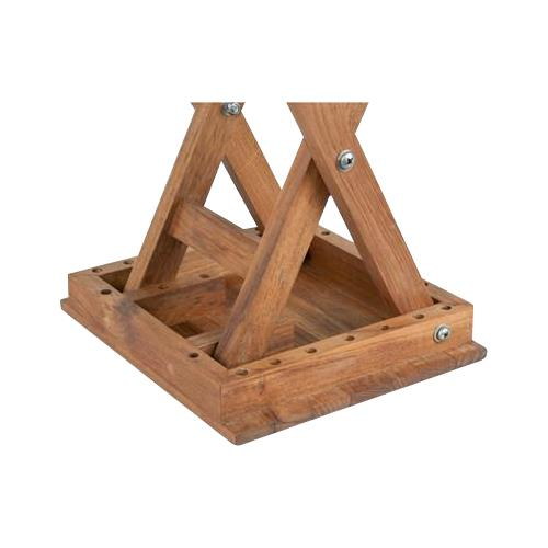 Teakworks4u Folding Teak Accent Deluxe Shower Bench | Shower Chairs