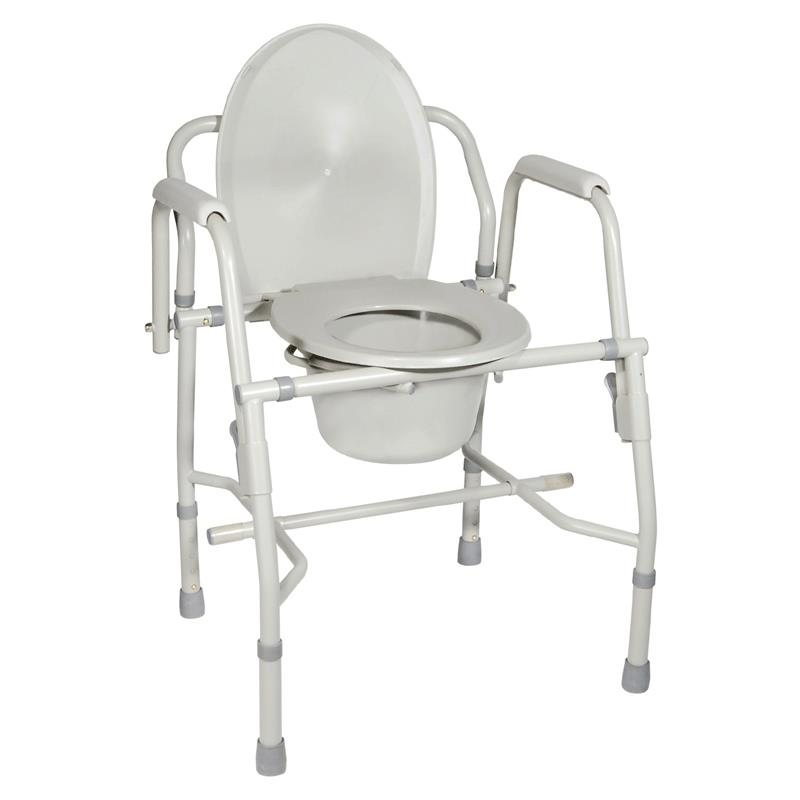 Drive Knock Down Deluxe Steel Drop Arm Tool Free Commode | Commodes