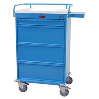 Harloff Value Line Punch Card Medication Cart With Key
