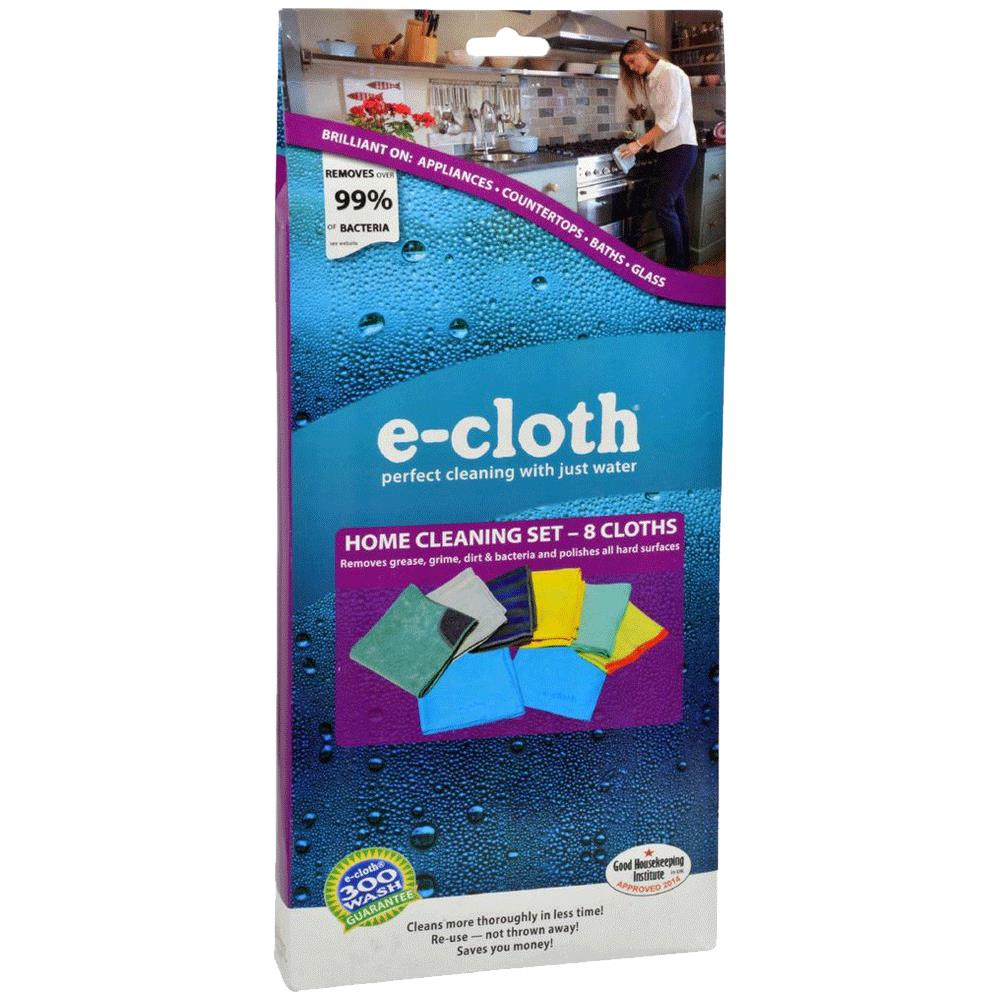 E Cloth 8 Piece Home Cleaning Set Household Helpers