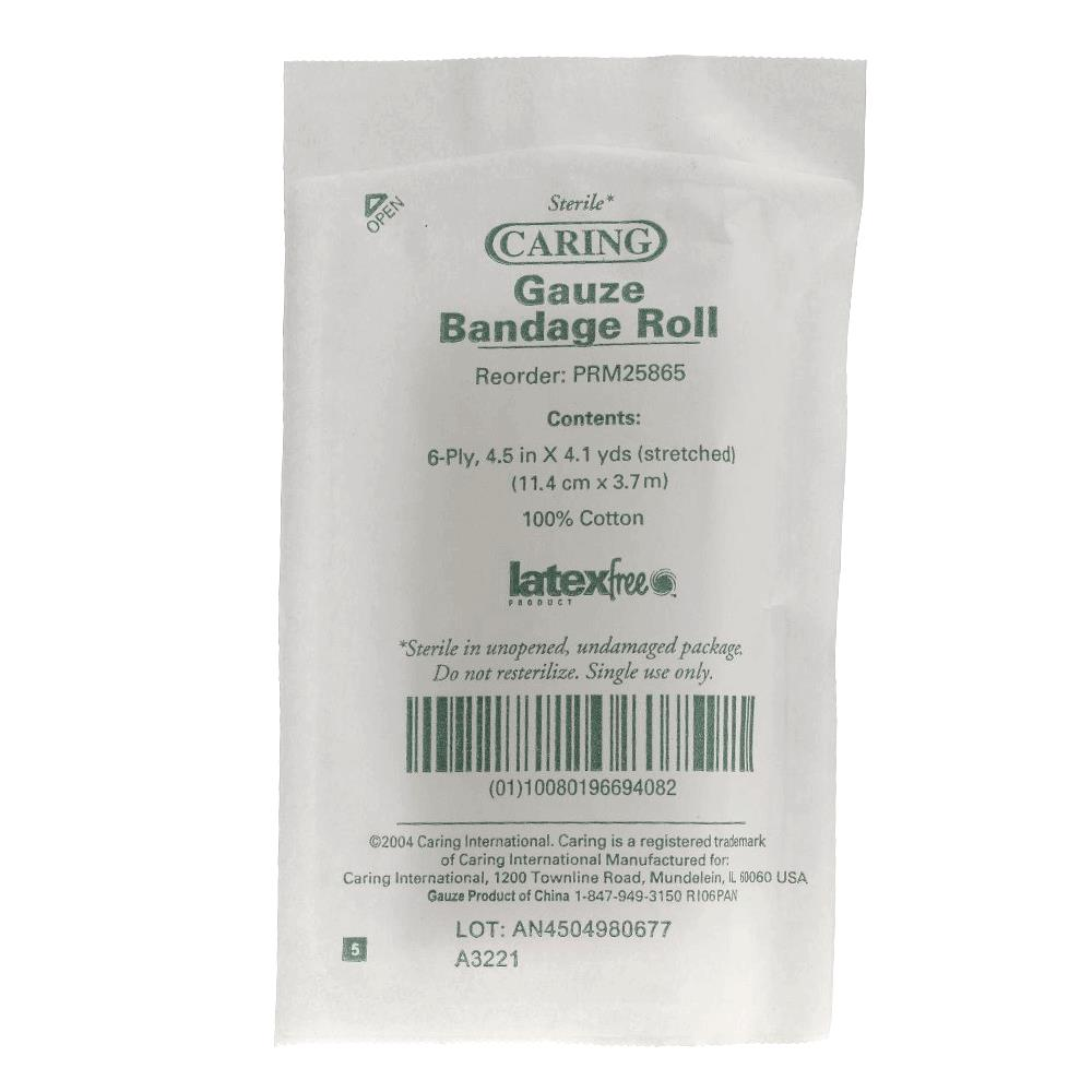 Buy Medline Caring Sterile Cotton Gauze Bandage Rolls