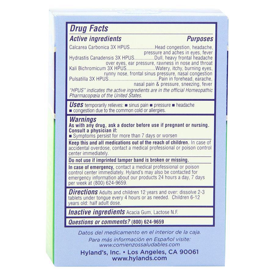 homeopathic sinus pressure relief