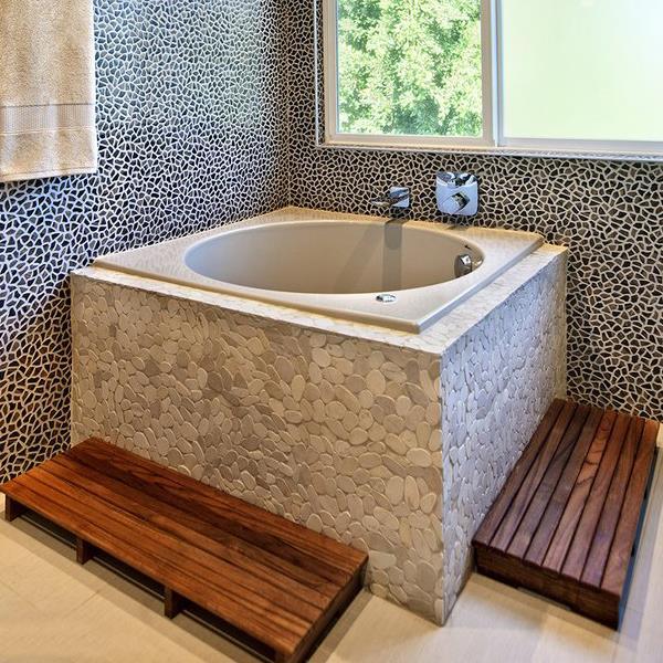 Teakworks4u Elevated Teak Shower Mat And Step | Bath Aids