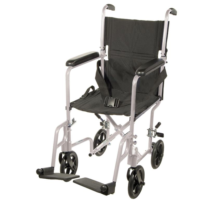 Transport Chair Replacement Wheels ... Transporters Drive Aluminum Transport Chair With Swing-Away Footrests