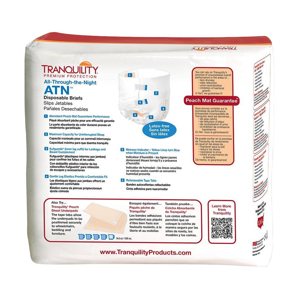 Tranquility Atn Adult Diaper All Through The Night Disposable Brief # La Oz Y Muebles