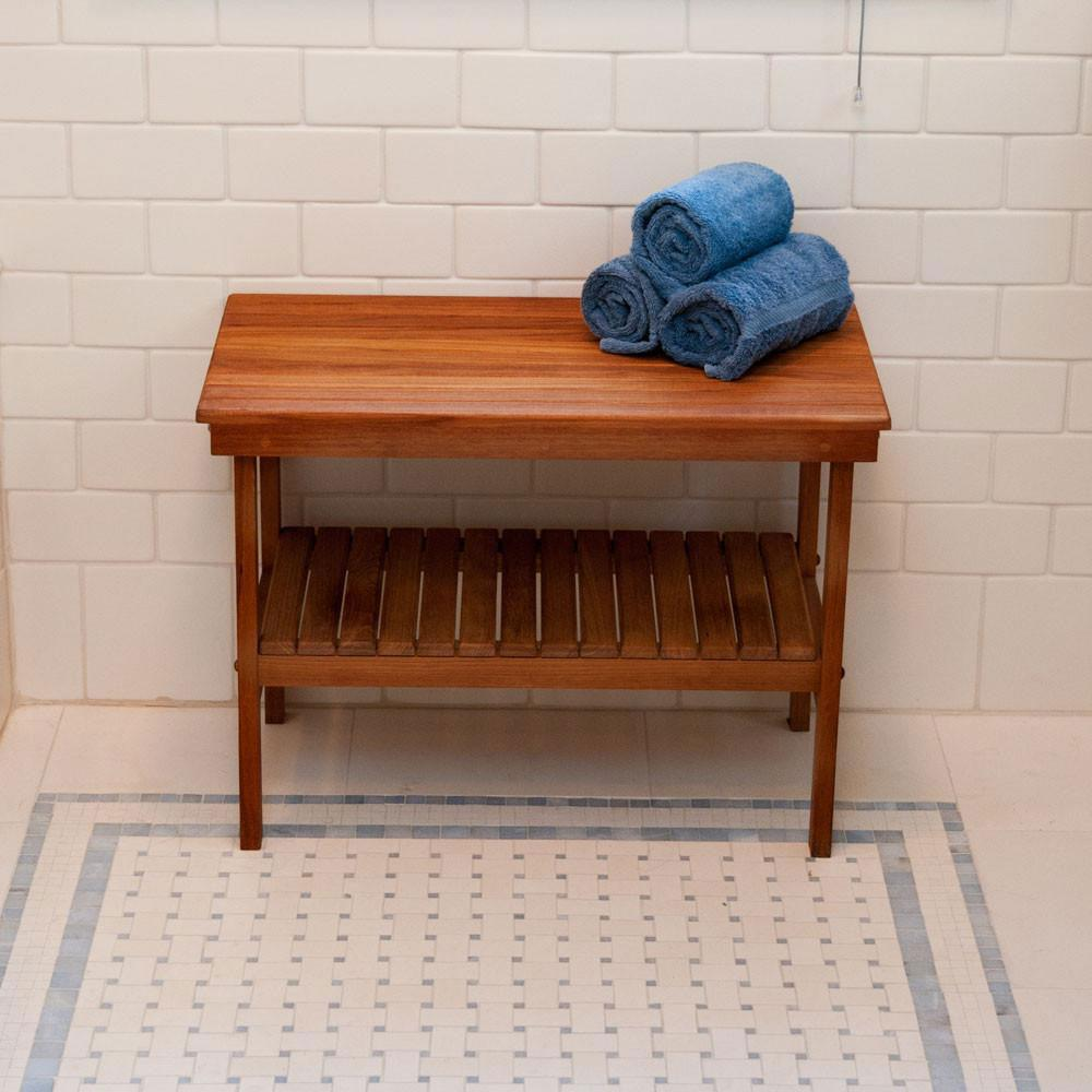 Teakworks4u Deluxe Rigid Teak Shower Benches | Shower Chairs/Benches