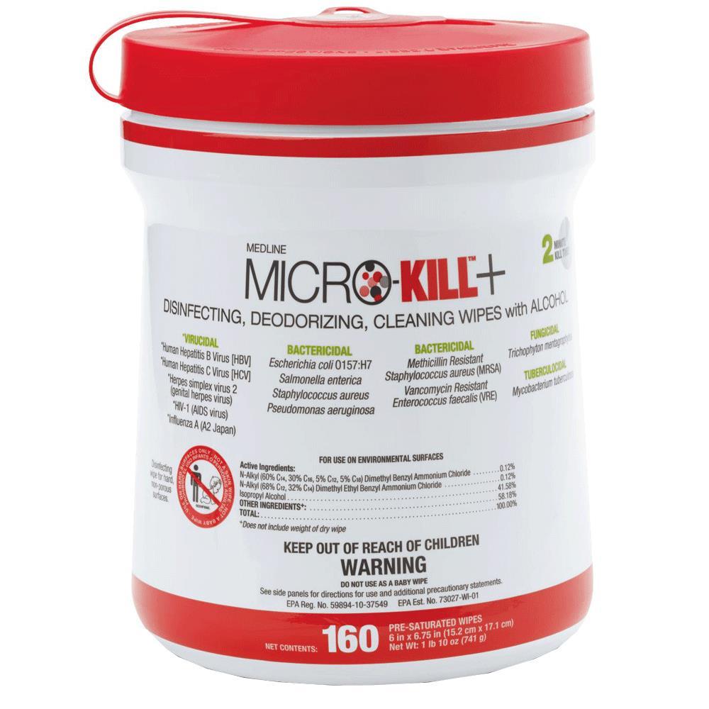 Medline Micro-Kill+ Disinfectant Wipes