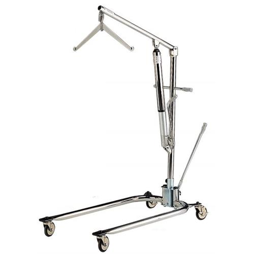 Manual Hydraulic Lift : Hoyer classics hydraulic chrome manual patient lift