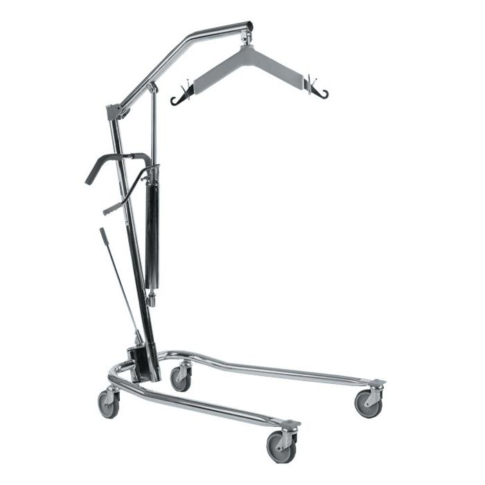 Manual Hydraulic Lift : Invacare hydraulic patient lift w padded swivel bar