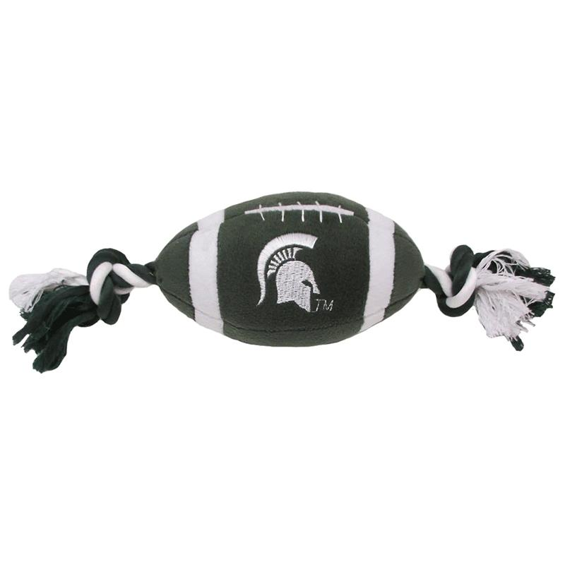 Pets First Michigan State Spartans Plush Rope Football Toy