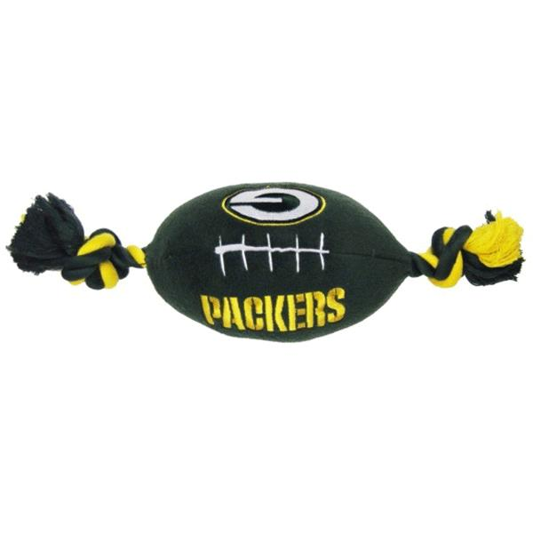 02e58bde25b Pets First Green Bay Packers Plush Rope Football Dog Toy | Pet Toys