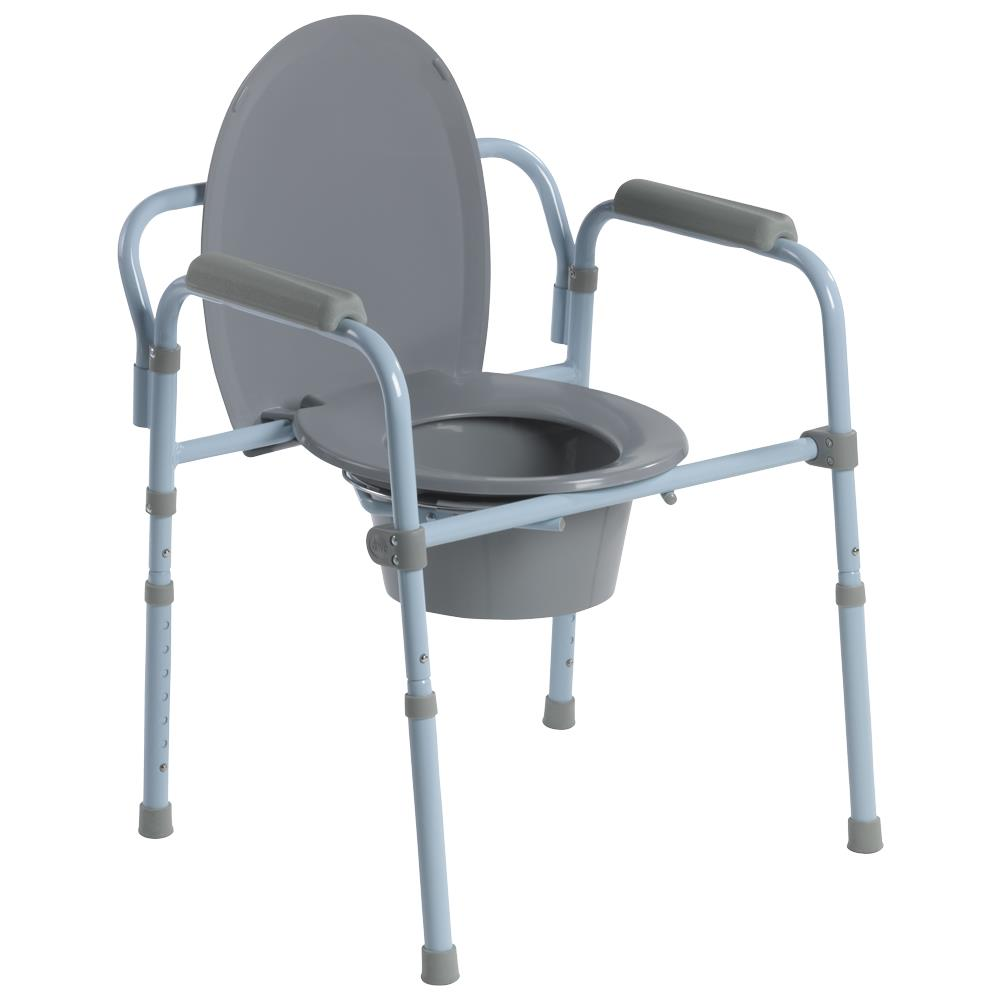 Drive Steel Frame Folding Commode Commodes
