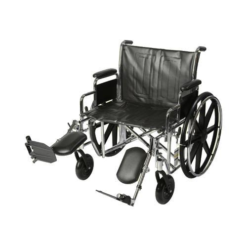 Ita Med 24 Inch Extra Wide Wheelchair Lightweight Wheelchair
