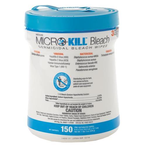 Medline Micro-Kill Bleach Germicidal Bleach Wipes
