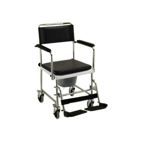 Nova Medical Drop Arm Commode Transport Chair With Wheels