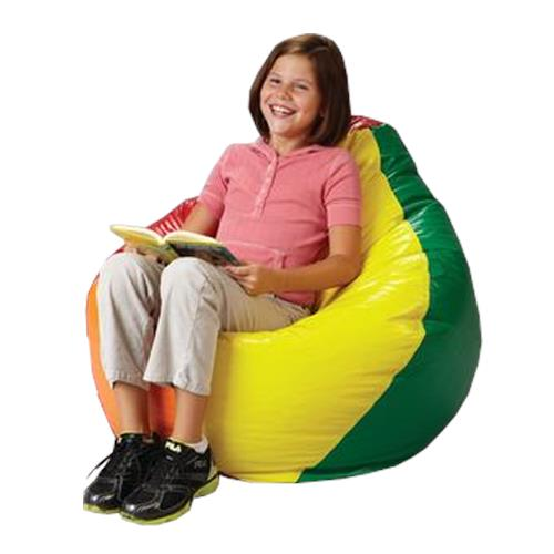 Rainbow bean bag chair tables and chairs for Hand shaped bean bags