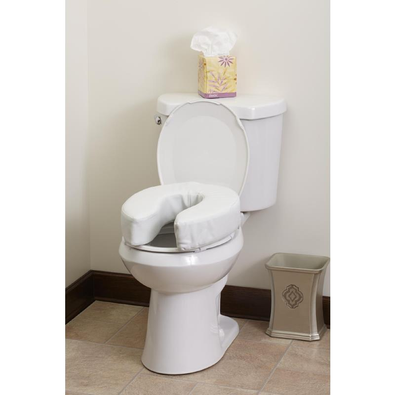 Medline 4 Inches High Padded Toilet Seat | Raised Toilet Seats