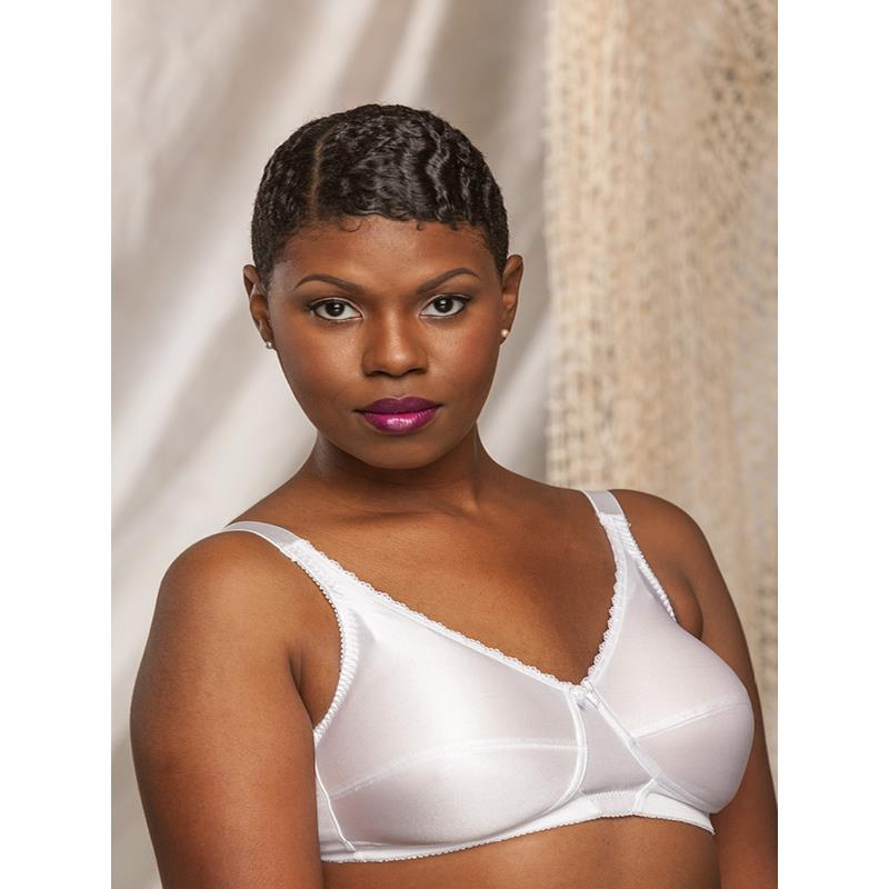 a8f68d63d55de Nearly Me 630 Plain Soft Cup White Mastectomy Bra