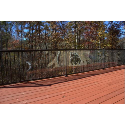 Cardinal Gates Clear Outdoor Deck Shield Pet Safety