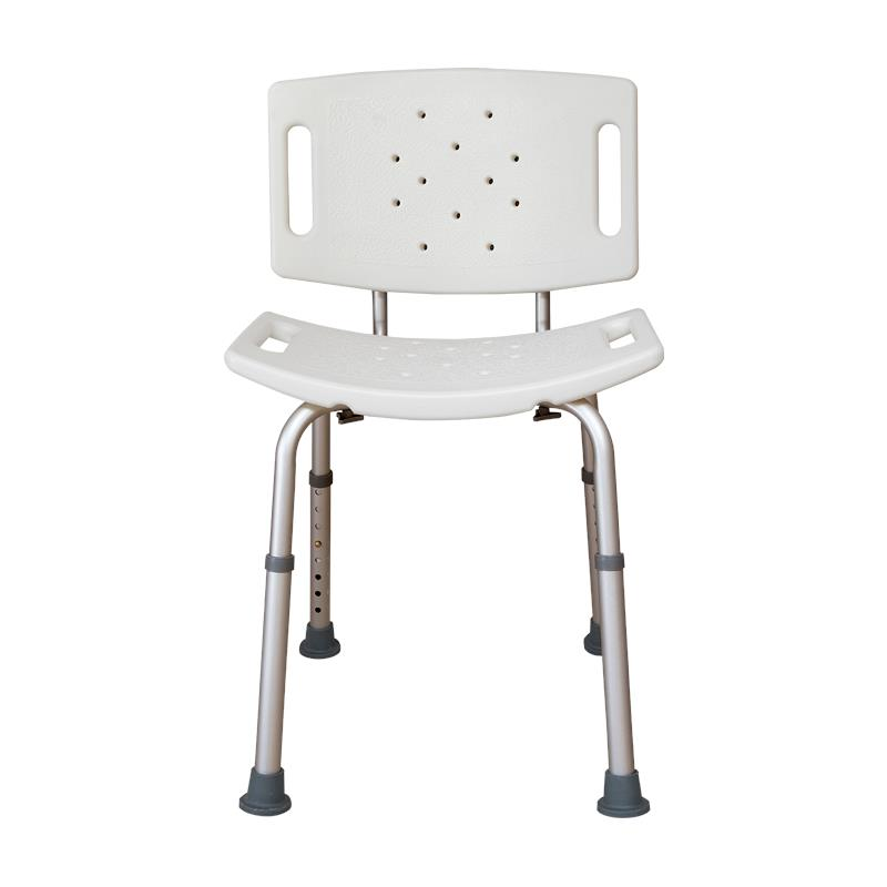 Essential Medical Adjustable White Shower Bench | Shower Chairs/Benches
