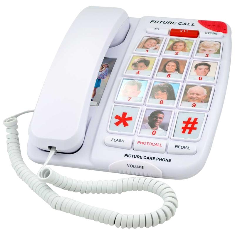 Future Call Picture Care Memory Corded Amplified Phone