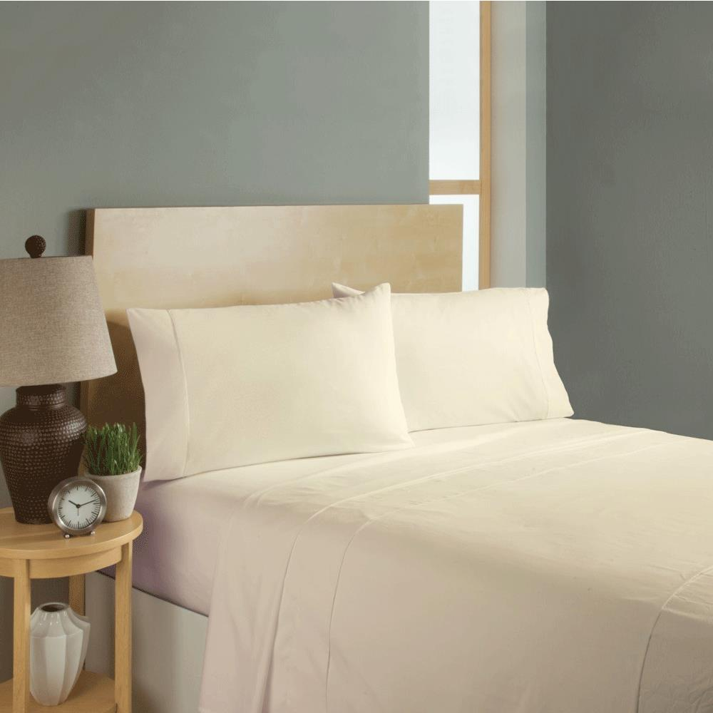 Simple Sheets Sleep Soft Bed Sheets Set   Beige
