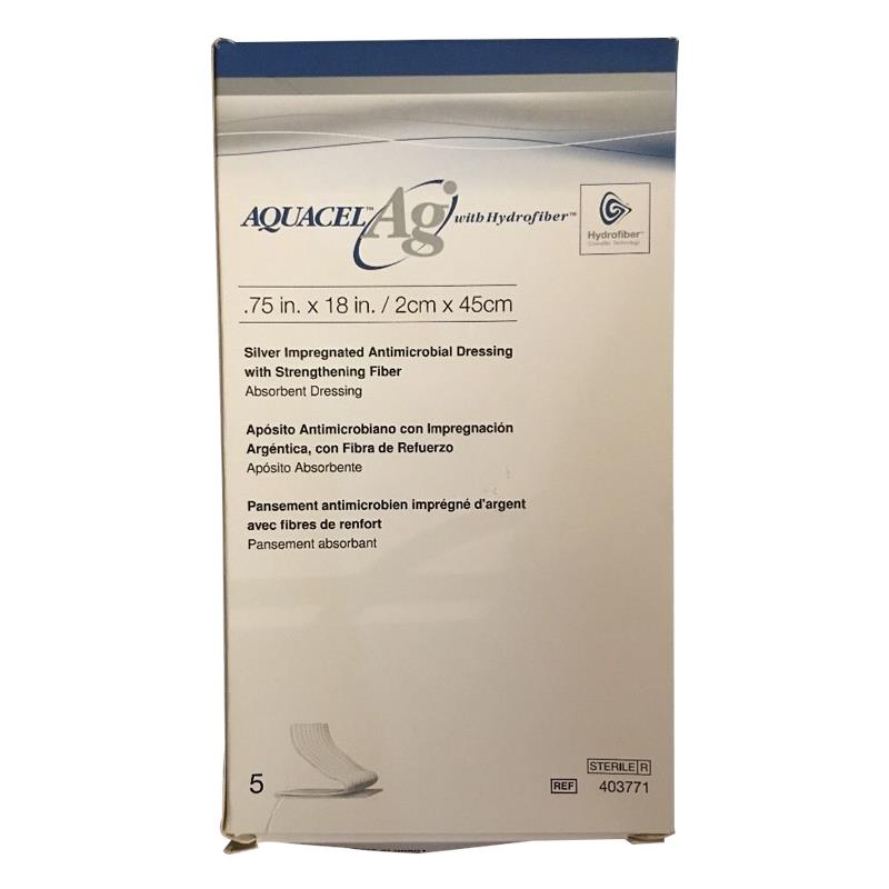 Convatec Aquacel Ag Hydrofiber Ribbon Dressing With Strengthening