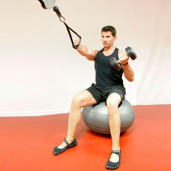 how to use the exercise ball for abs