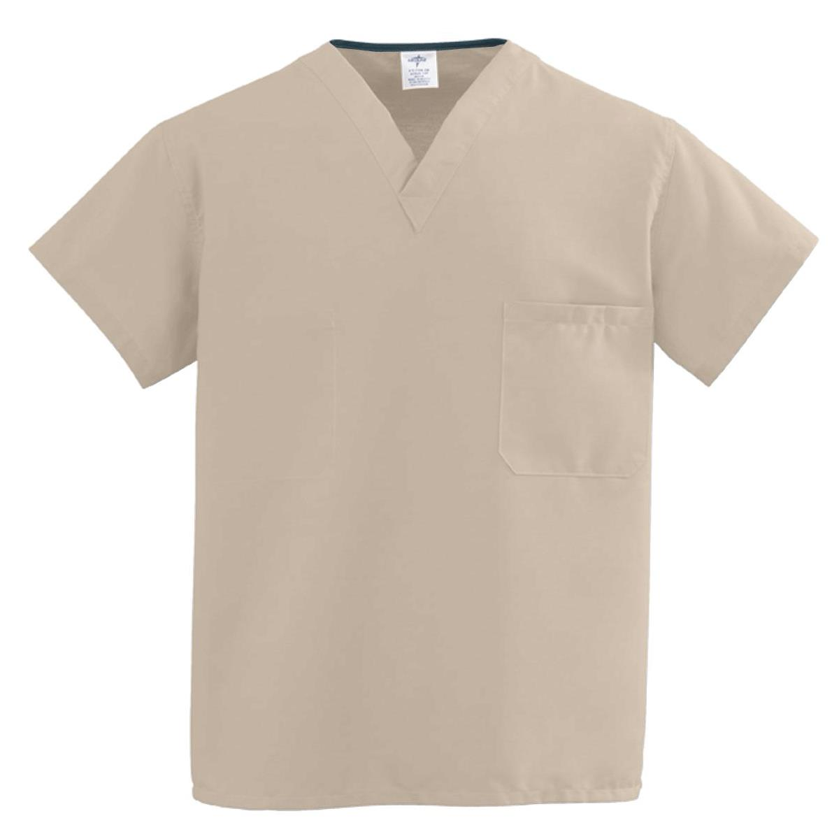 ecdf026ce2e 31120183117Medline-ComfortEase-Unisex-One-Pocket-Reversible-Scrub -Tops---Khaki-L.png