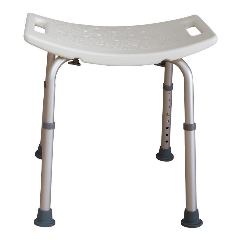 Essential Medical Adjustable White Shower Bench Shower